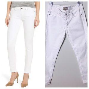 PAIGE Denim Peg Skinny White Jeans